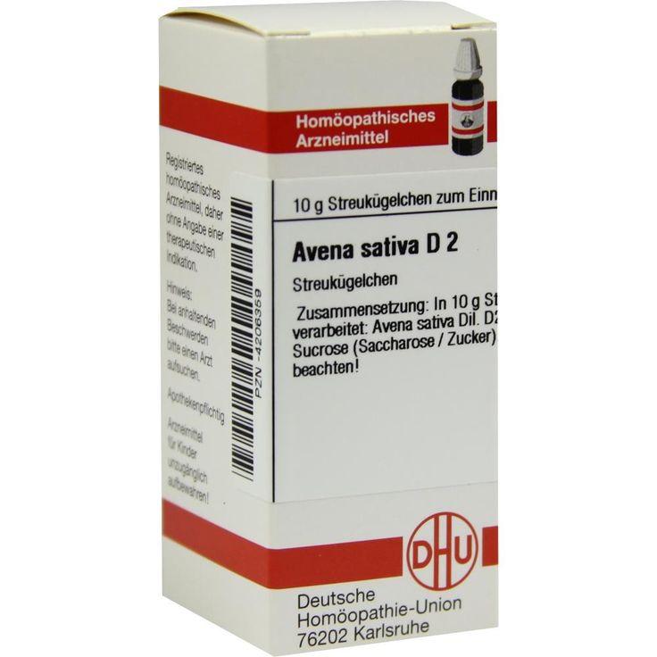 AVENA SATIVA D 2 Globuli:   Packungsinhalt: 10 g Globuli PZN: 04206359 Hersteller: DHU-Arzneimittel GmbH & Co. KG Preis: 5,50 EUR inkl.…