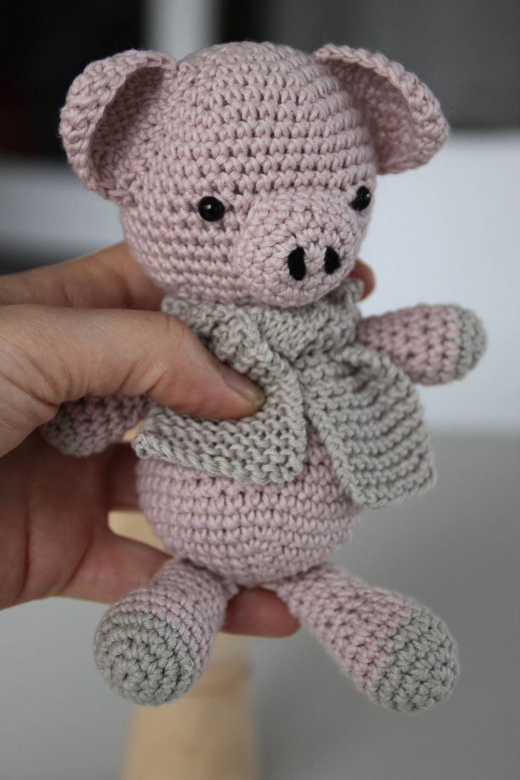 Excited to share the latest addition to my #etsy shop: Piglet the pig http://etsy.me/2BOXpR8 #toys #pink #babyshower #christmas #gray #amigurumitoy #cottonanimal #babyshowergift #stuffedteddy