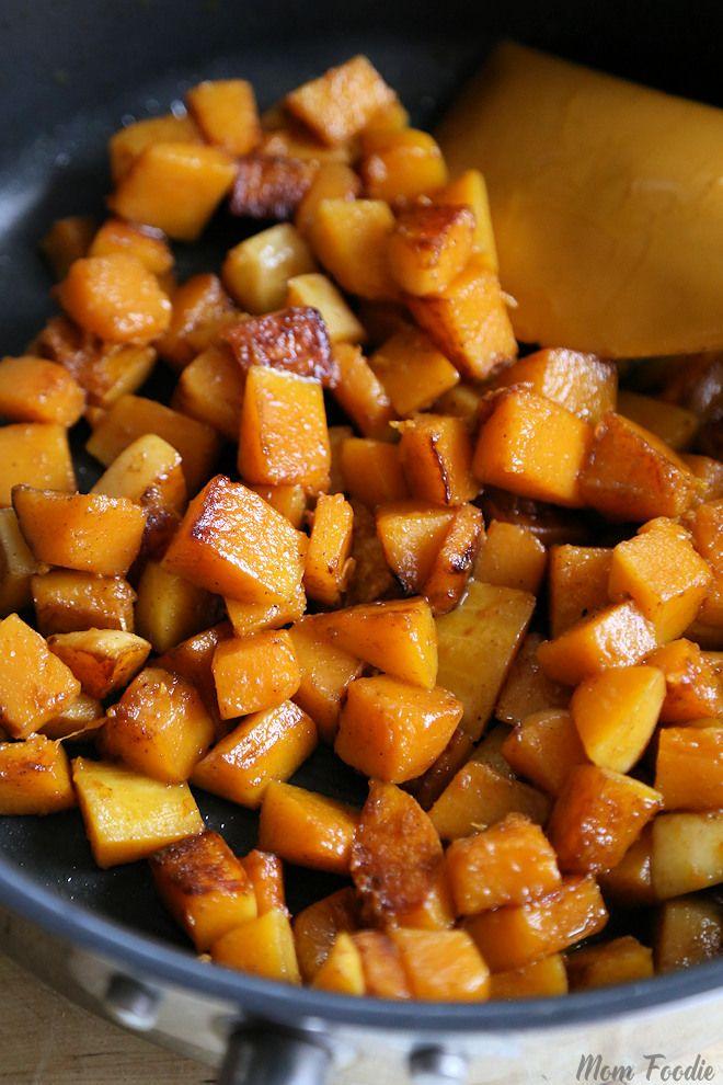 Pan Fried Butternut Squash with Garam Masala from @MomFoodie