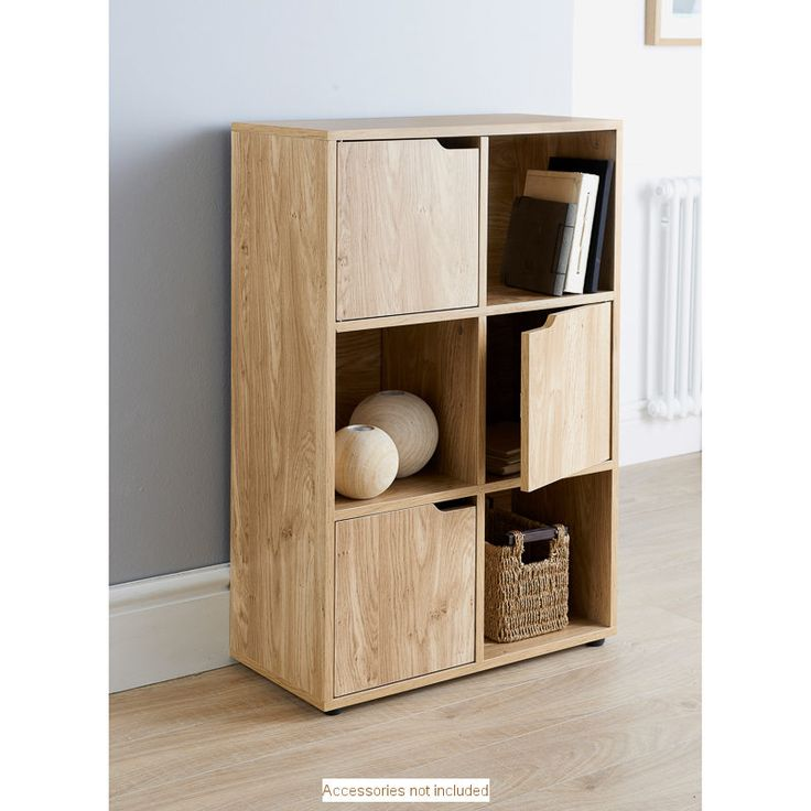 turin 6 cube unit 6 stylish storage sections with 3 doors. Black Bedroom Furniture Sets. Home Design Ideas