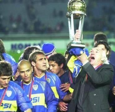 Copa #Intercontinental 2003 #Bianchi, Barros Schelotto, Clemente Rodriguez, Cascini. #Japon