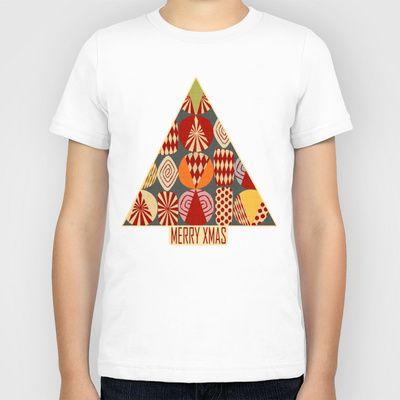 XMAS MINIMALIST Kids T-Shirt by Chicca Besso - $20.00
