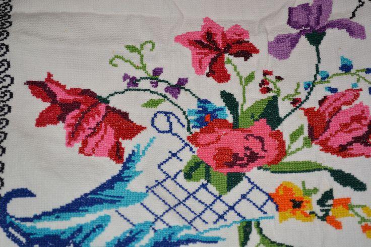 Flowers flores cross stitch patterns muestras de - Muestras y motivos punto de cruz ...