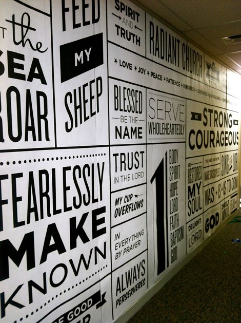 Wall typography