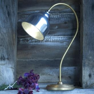 The Wharton table lamp is a handmade brass table lamp with a stunning aluminium shade. Perfect for desk lighting, living room lighting or as a bedroom lamp; the unusual shape is sure to impress. www.jim-lawrence.co.uk