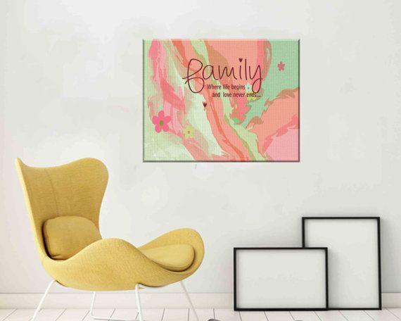 Canvas Wall Art Abstract Canvas Wall Print Canvas by DaniJArts