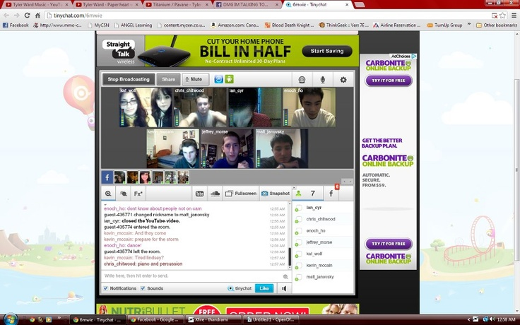 We went on TinyChat for some of Lindsey's Fans!  #LindseyStirling