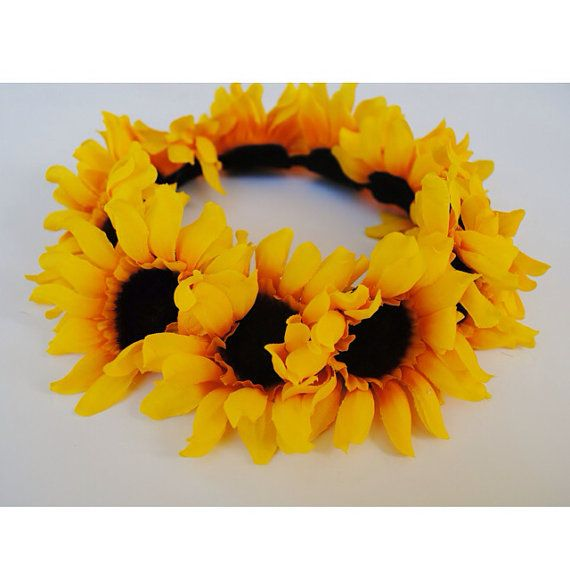 Maybe if it's summer, I'll have a sunflower crown, I do love sunflowers. But maybe not, it might distract. Maybe I'll wear it at the reception.