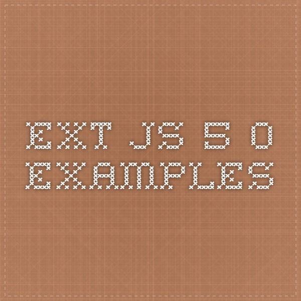 Ext JS 5.0 Examples