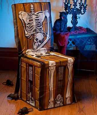 New Halloween Haunted House Party Chair Cover Spooky Scene