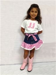 what dress with boots for young girl | denim skirt | Cowboy Boots & Western Boots, Western Wear & Clothing ...