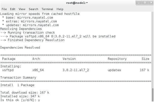 Install VSFTP Server on CentOS Linux