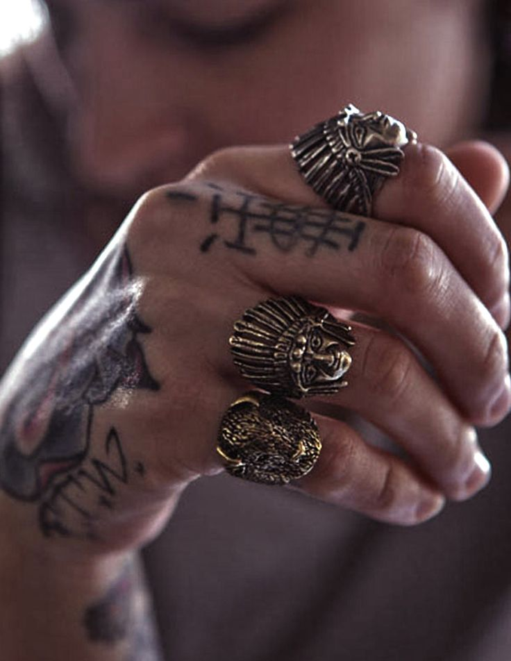 Vintage styled native american indian rings