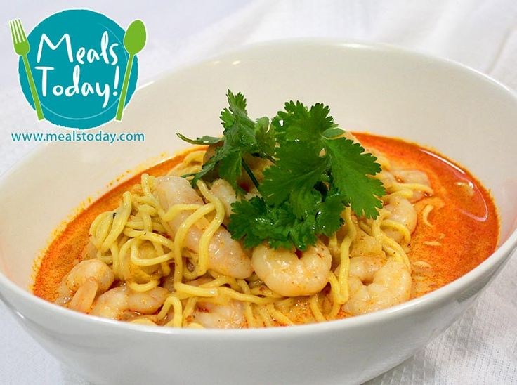 Malaysian Prawn Laksa with Singapore Noodles  Available to order now, for delivery on Tue 30th September  www.mealstoday.com    #mealstoday