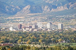 Colorado Springs - I saw this view at night. It was overwhelmingly beautiful.