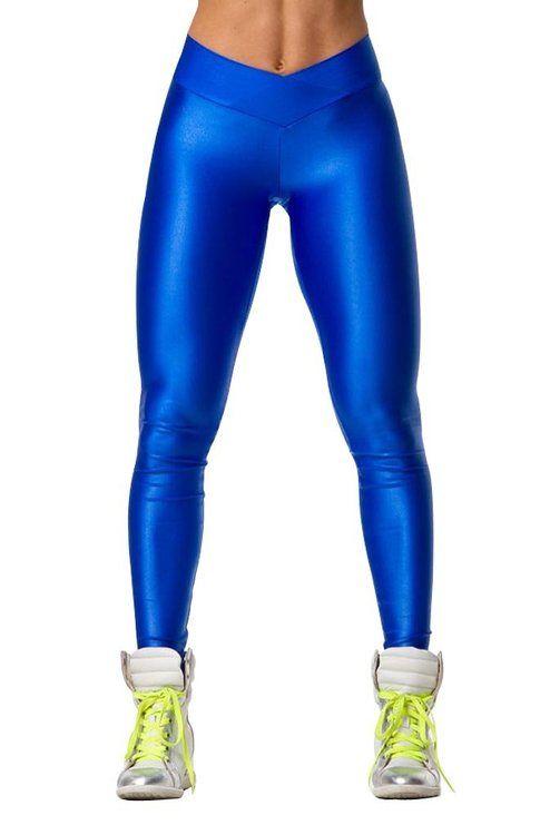 AmazonSmile: Fashion Neon High V Waist Stretch Skinny ...
