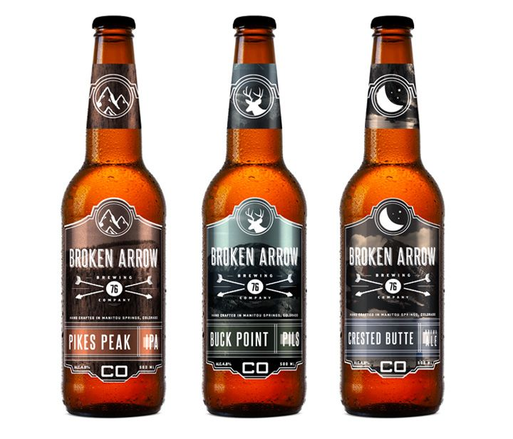 Broken Arrow Beer branding & packaging by Sam Faulkner