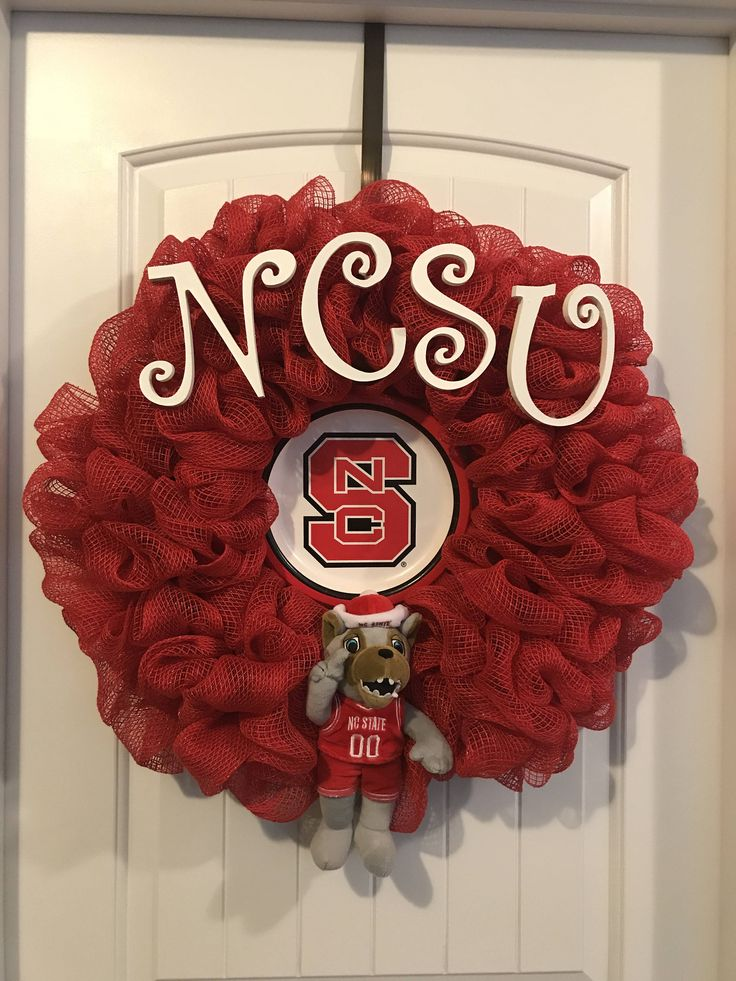 A personal favorite from my Etsy shop https://www.etsy.com/listing/546356960/nc-state-university-wolfpack-ncsu-fan