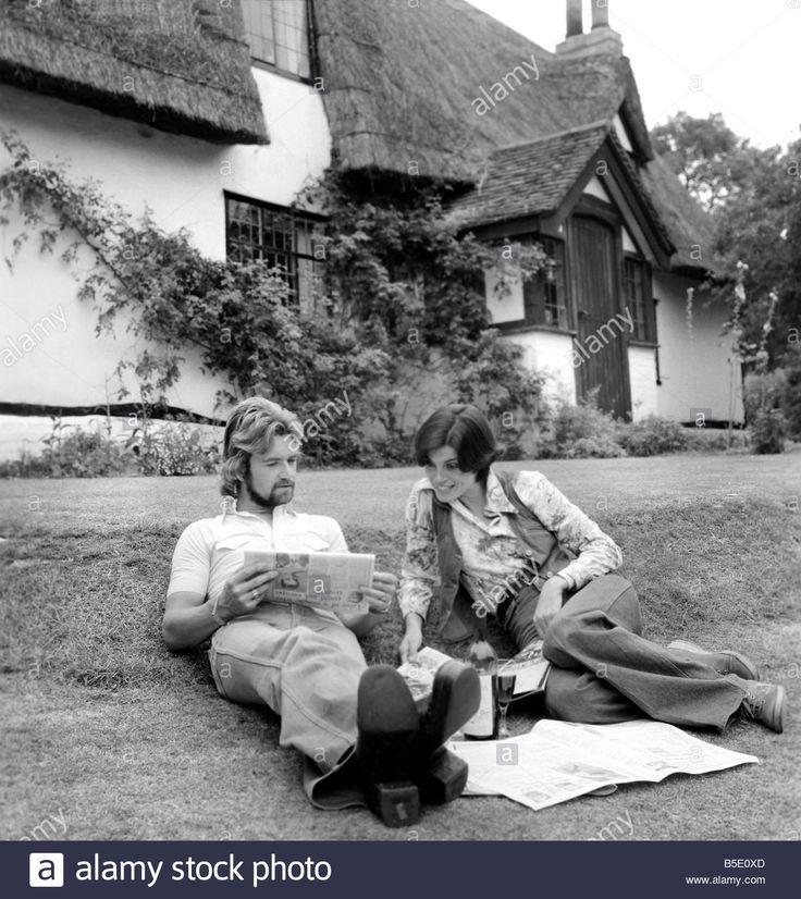 Noel Edmonds wife wearing a denim waistcoat, September 1976