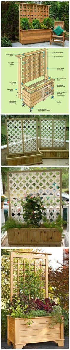 DIY Privacy Planter