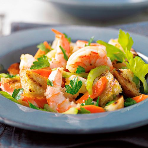 shrimp panzanella salad rezept pinterest. Black Bedroom Furniture Sets. Home Design Ideas