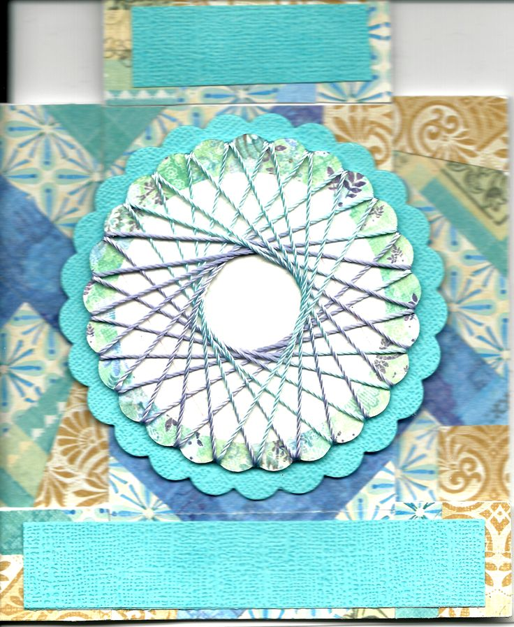 1 Fold 2 Techniques Card. Center Step Card (France Martin). Quilt Card (Nancy Riley). Spirelli Wreath (Maymay Made It).