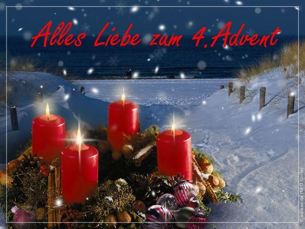 Alles Liebe Zum 4 Advent Advent Advents Grusse Weihnachten