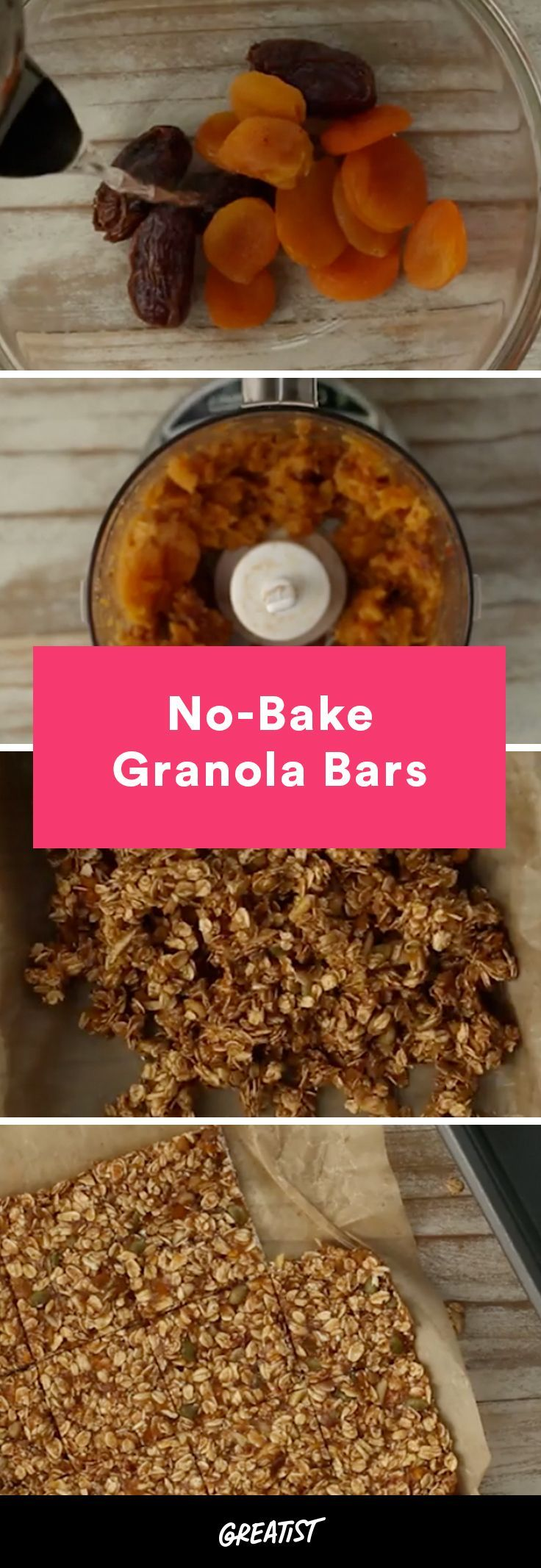 Never buy the packaged kind again. #homemade #granola #bars http://greatist.com/eat/homemade-no-bake-granola-bars-recipe-video