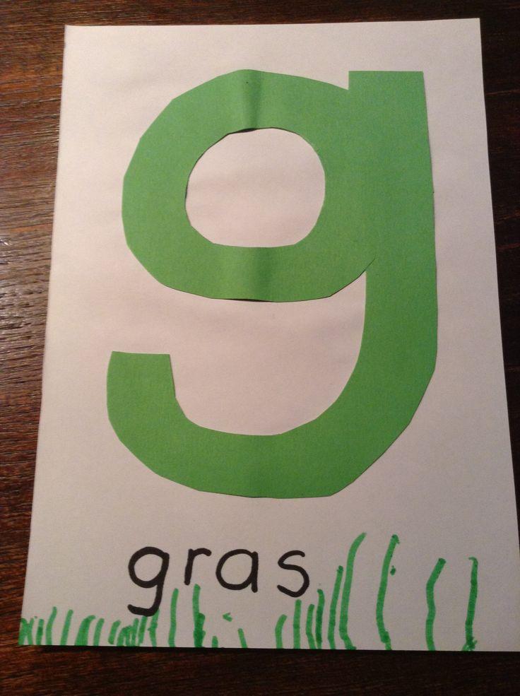 de letter g van gras