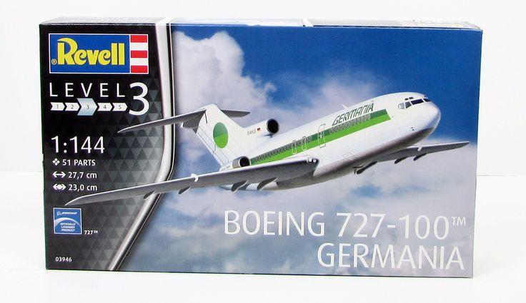 Revell Boeing 727-100 Germania New Plastic Model Airplane Kit 03946 1/144