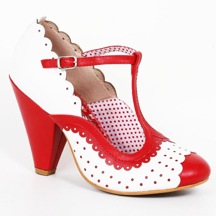 Bettie Page Paige Shoes - Red | US sizes 6, 7, 8, 9, 10, 11