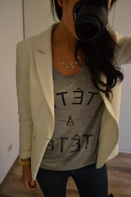 weißer blazer mit chucks!