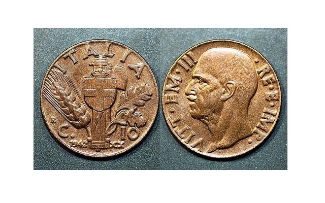 10 centesimi 1942