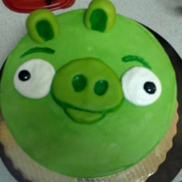 How to make a bad piggies cake