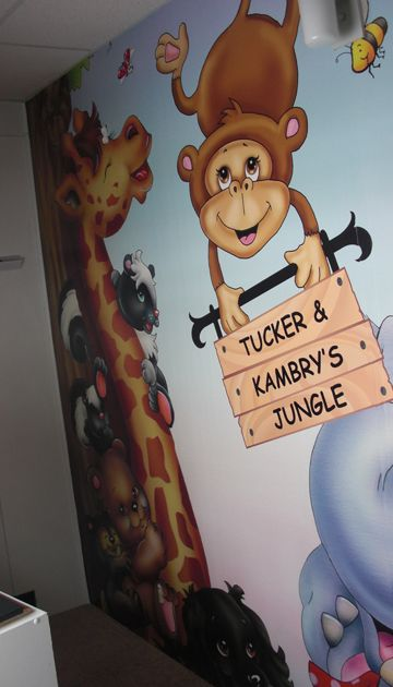kids mural with customization from Murals Your Way