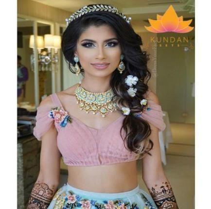 61 Trendy Bridal Hairstyles Indian Weddings Make Up - #bridal #hairstyles #india...,  #braide...