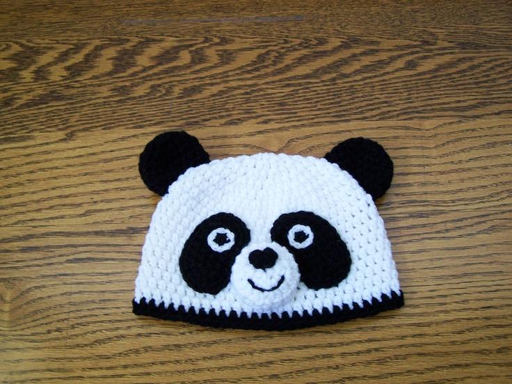 Free Crochet Baby Panda Hat Pattern : Crochet Panda Hat. Crochet Bear Hat. USD25.00, via Etsy ...