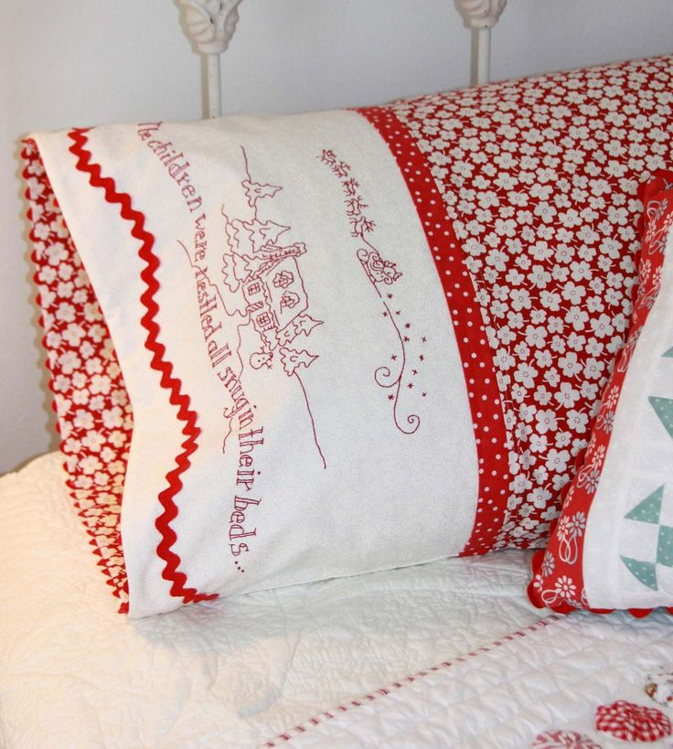 Hand Embroidery Pattern - The Night Before Christmas Pillowcase - Crabapple Hill Studio & 234 best Embroidery images on Pinterest | Embroidery machines ... pillowsntoast.com