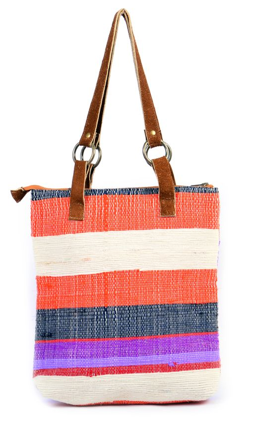 Multicolor Cotton Bag have various types in unique collection of Great Highly woolen fabric and sequence work used with genuine Leather around the zipper area & smart handle's to carry regularly for working women's and girls. It has 2 inside pockets, one outside pocket, one zippered and all line