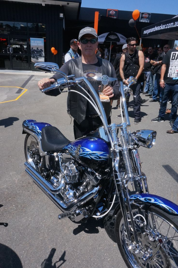 Jay Shaw won best Softail and Best in Show  in the show and shine at the Gold Coast Harley-Davidson grand opening. Read all about it at http://motorbikewriter.com/harley-883-iron-dealership/
