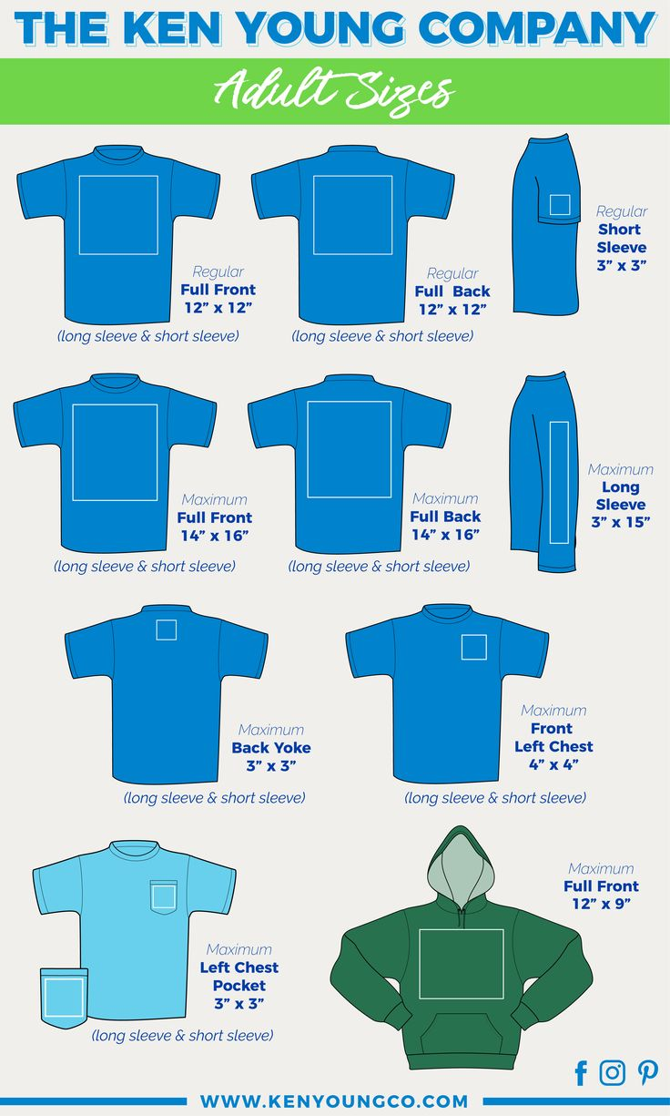 KEN YOUNG CO Placement designs on adult tshirts