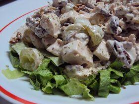 Salada de Frango (Chicken Salad with grapes, walnuts, pecans and tarragon)