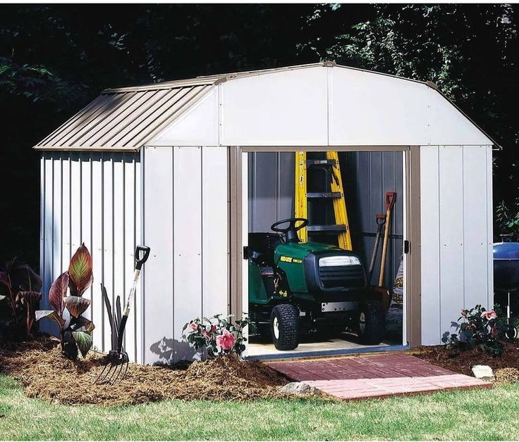 Steel Storage Shed Outdoor Garage Tools Lawn Mower Tractor ATV Dirt Bike  Shed #Arrow
