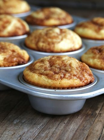 Gluten Free Cinnamon Roll Cupcakes- basic recipe to follow for welcome home muffins :-)