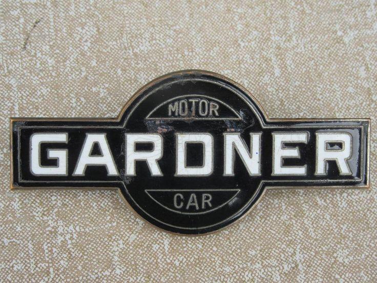 ORIGINAL GARDNER RADIATOR GRILLE BADGE EMBLEM MASCOT