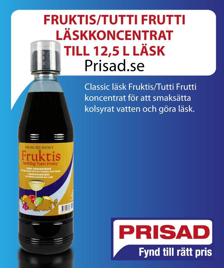 Classic läsk Fruktis/Tutti Frutti koncentrat för att smaksätta kolsyrat vatten och göra läsk.