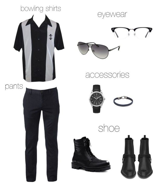 """Rico's 3rd look"" by arini-lioni on Polyvore featuring Urban Pipeline, Canvas by Lands' End, Yves Saint Laurent, Ace, AQS by Aquaswiss, Timex, Tod's, men's fashion and menswear"
