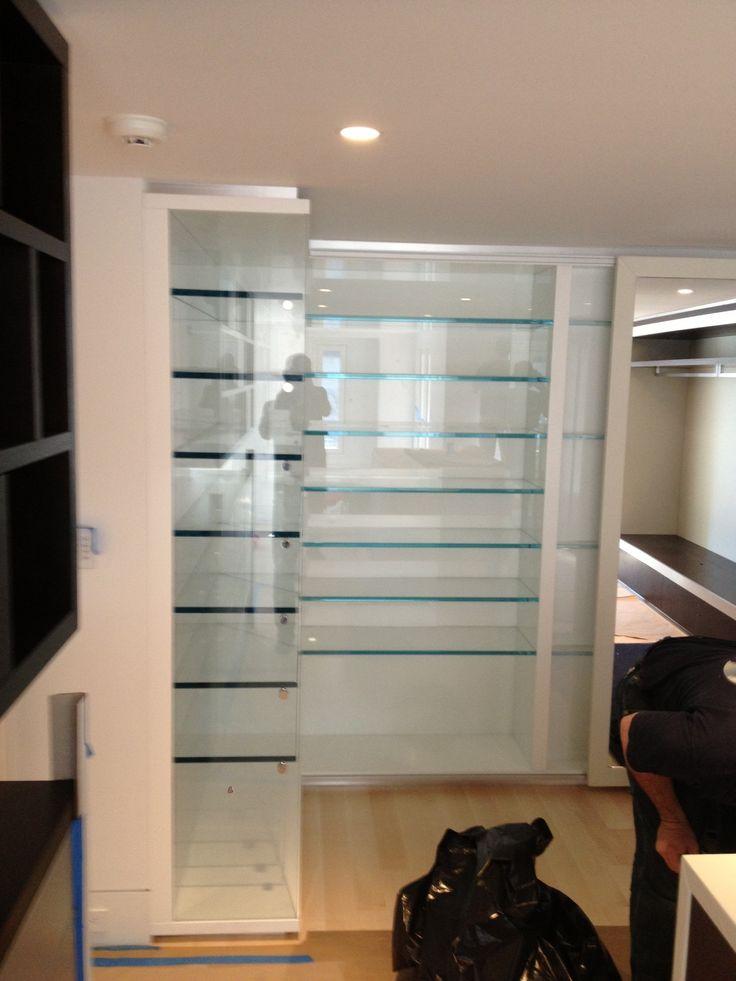 Glass shoe shelves