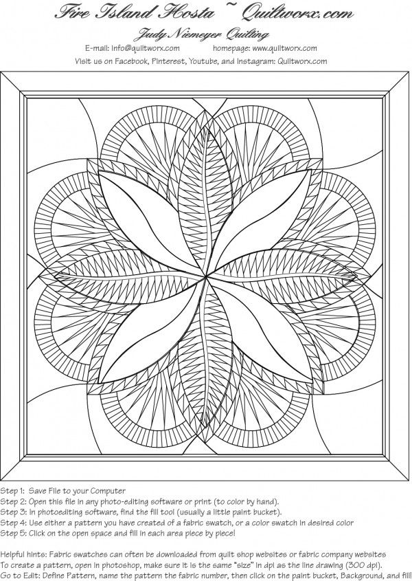 Line Art Quilt Pattern : Line drawing for the quiltworx design fire island