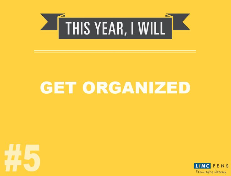"""Being organized is being in control"" ‪#‎Top10‬ ‪#‎NewYearResolution‬ #5"